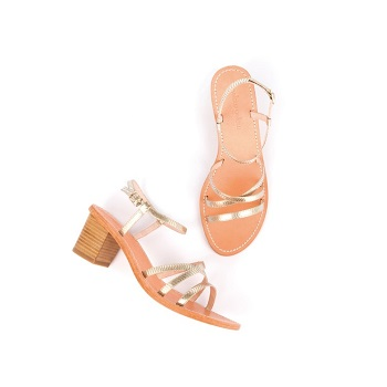 Mellow Yellow Heel Sandals Balouna Gold