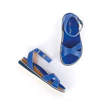 Mellow Yellow Flat Sandals Bobine Blue