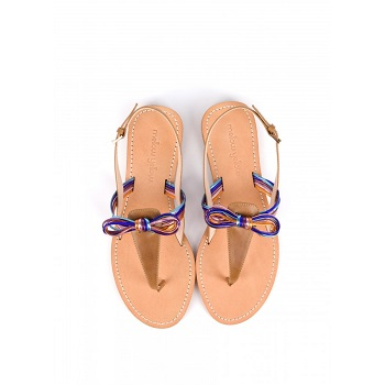 Mellow Yellow Flat Sandals Baness Orange