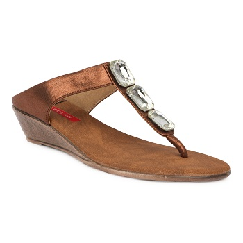 SOLES Women's Bronze Synthetic Fashion Wedges 180501BX