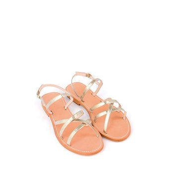 Mellow Yellow Flat Sandals Baloma Gold