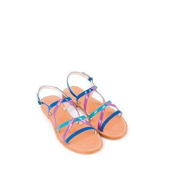 Mellow Yellow Flat Sandals Balentin Blue