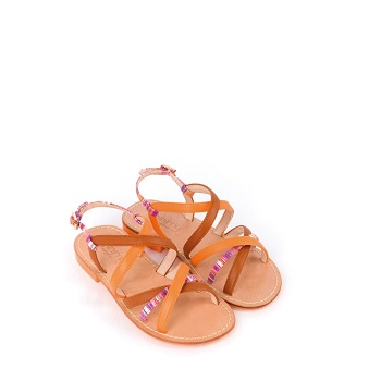 Mellow Yellow Flat Sandals Banessi Orange