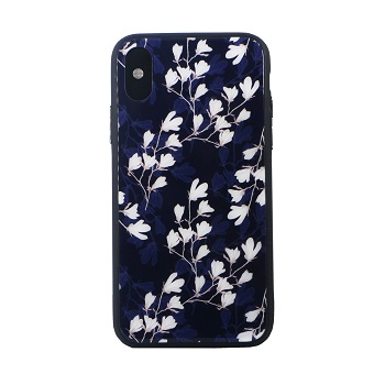 Tempered Glass Floral Case(iPhone X)