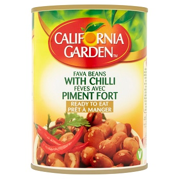 California Garden Fava Beans With Chilli 450gm