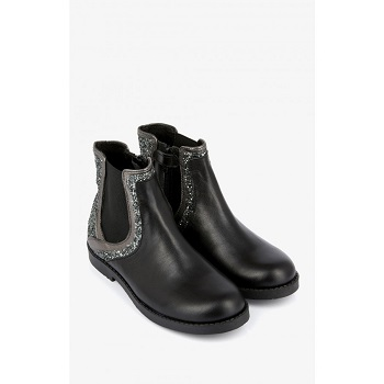 Mellow Yellow Kids Boots Mncecily Black