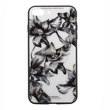 WK Tempered Glass Floral Case (iPhone 8 Plus)