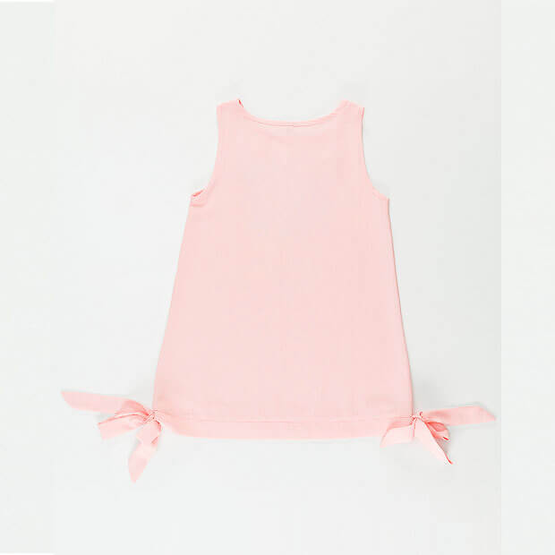 Raw Pink Solid Kedi Elbise Dress