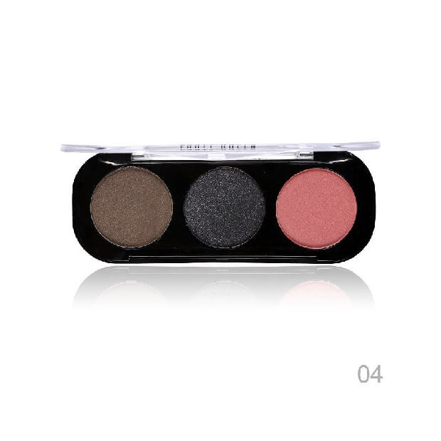Party Queen Artist Trio Eyeshadow Palette 8 Styles Shimmer Matte Bronze Eyeshadow Makeup Natural Naked Smokey Glamour Eye Shadow 04