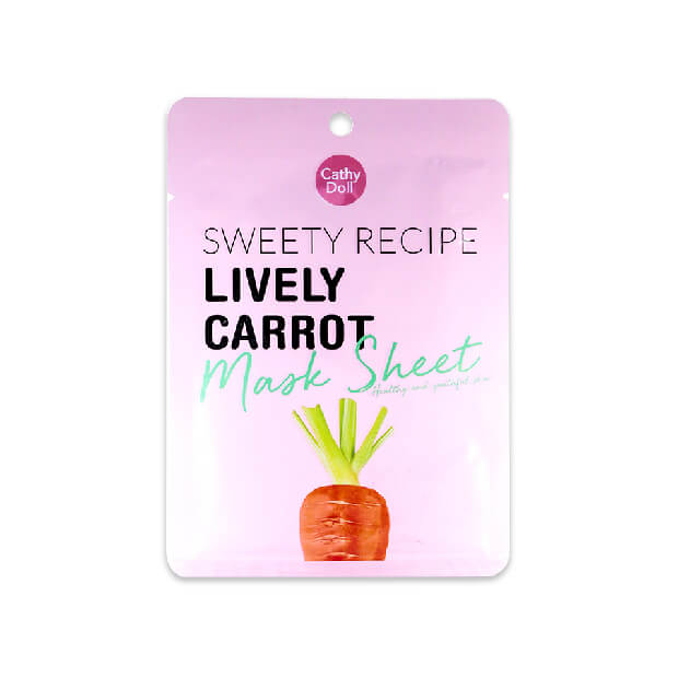 Cathy Doll Sweety Recipe Lively Carrot Mask Sheet