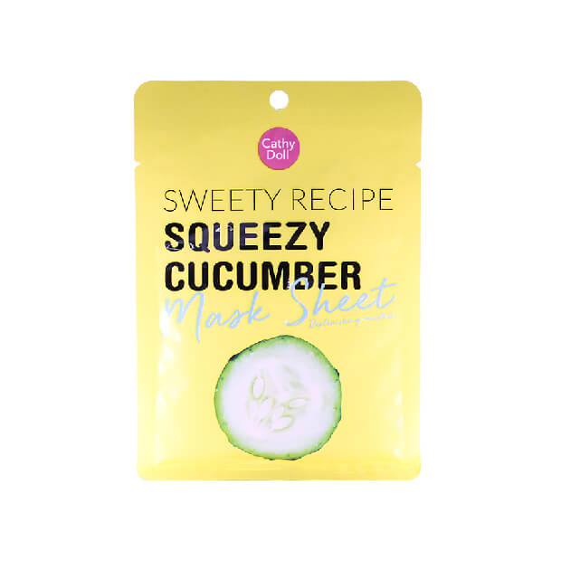 Cathy Doll Sweety Recipe Squeezy Cucumber Mask Sheet