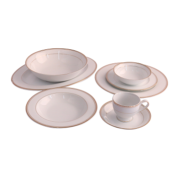 Horselane Dinner Set 38pc Goldline