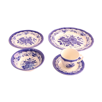 Claytan Victoria Blue 30 Pcs Dinner Set (U) - Gift Pack