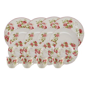 Claytan Wild Rose Dinner Set 30 Pc