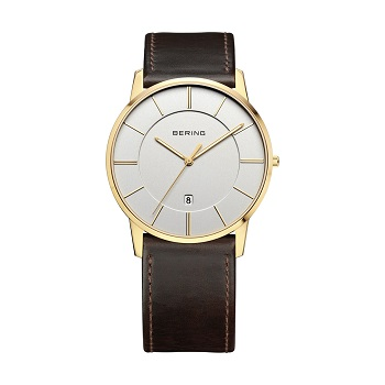 Sale Polished Gold Men's Watch 13139-539