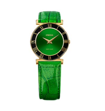 Jowissa Quartz Green Roman Numeral Roma Gold Women's Watch J2.045.M