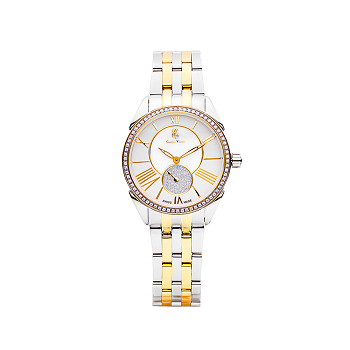 Swiss Time Analog Display Round Dial Women's Watch