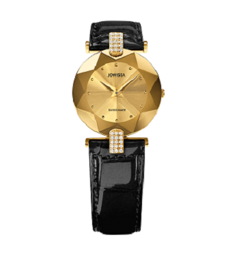 Jowissa Silver With Gold Ladies Watch Leather and Strap