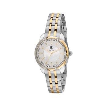 Swiss Time Round Dial Women's Watch, Silver