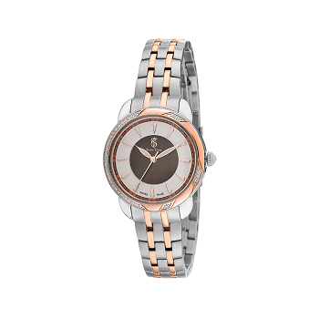 Swiss Time Chronograph Round Dial Women's Watch