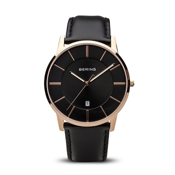 Classic Polished Rose Gold Men's Watch 13139-466