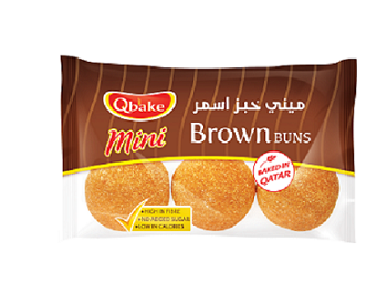 Qbake Mini Brown Bun 6 pcs