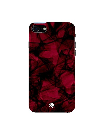 Hash Apple iPhone 7 Abstract Crimson Fibre Premium Phone Case