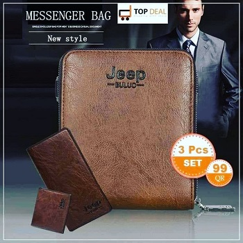 Jeep New Style Messenger Bag, 3 Pcs Set