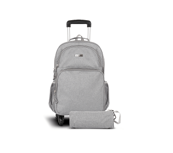 Asak Trolley School Bag, Grey