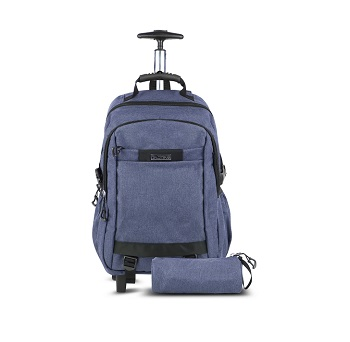 Asak Trolley School Bag, Blue