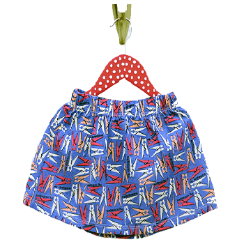Summer Kids Toddler Skirts, Multi Colour Blue