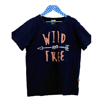 Kids Children Tshirts for Boys, Navy Blue