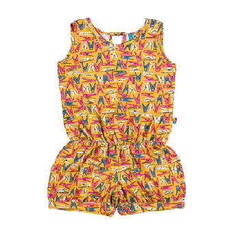 Spring Summer Kids Overalls, Yellow