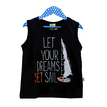 Summer Tank Top For Boy, Black