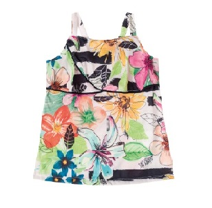 Floral Blouse For Girl, Multi Colour