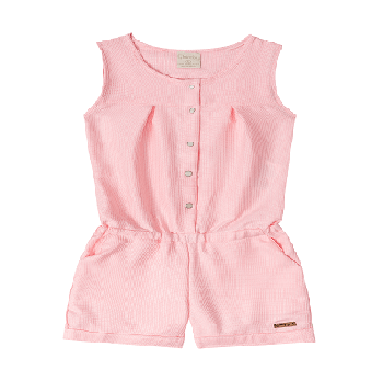 Summer Kids Girl Overalls, Pink