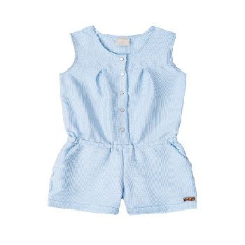 Summer Kids Girl Overalls, SkyBlue