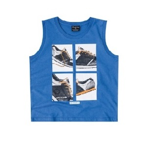 Kids Boy Tank Top, Blue