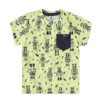 Short Sleeves Tshirt For Boy, Yellow