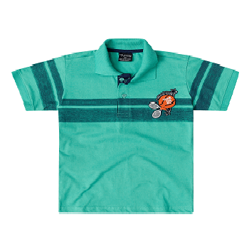 Kids Polo Shirt Top Casual, Green