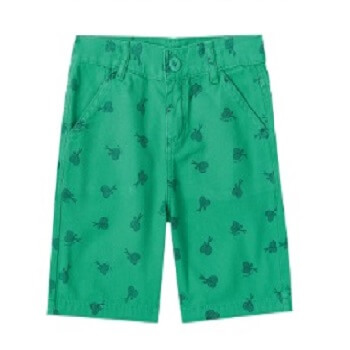 Kids Summer Shorts, Green