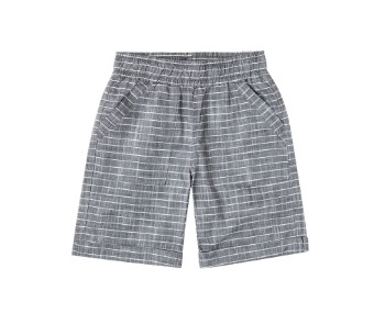 Stripped Shorts For Boy, Gray