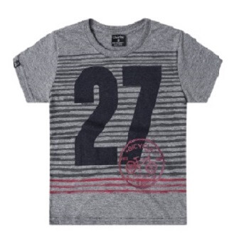 Short Sleeve Tshirt For Kids Boy, Gray