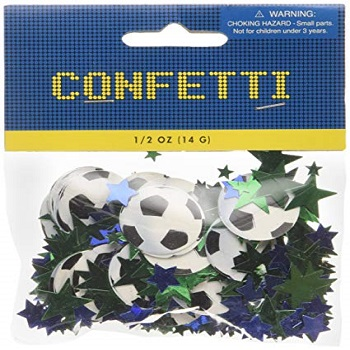 Football Table/ Invite Confetti