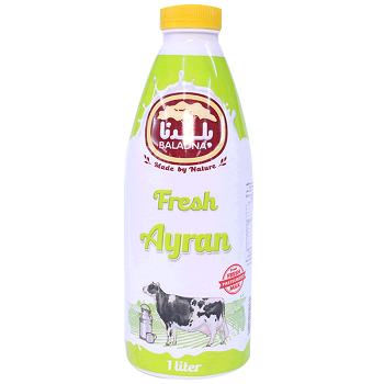 Baladna Fresh Ayran Full Fat 1Ltr