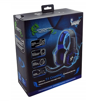 Gaming Headset Violent 7.1 Ch Lighting Effect