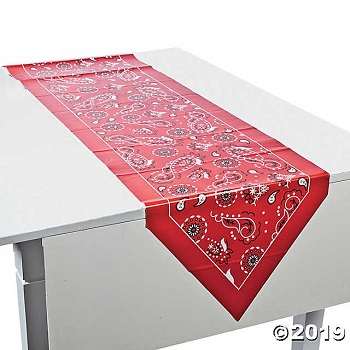 Red Bandana Table Runner