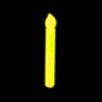 Glow in the Dark Candle, Yellow