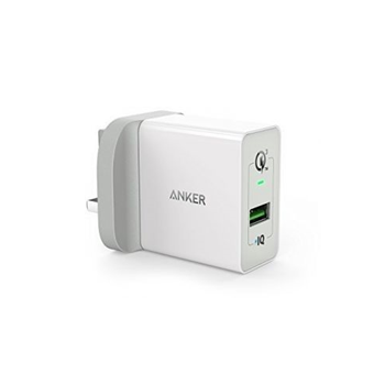 Anker Powerport+1 With Quick Charger 3.0 Uk (Offline), White