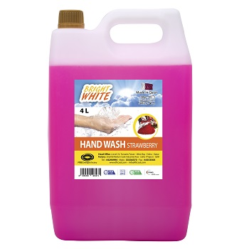 Bright White Hand Wash Strawberry 4L